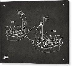 Pirate Ship Patent Artwork - Gray Acrylic Print by Nikki Marie Smith