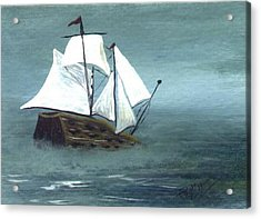 Pirate Ship Acrylic Print by Phyllisann Arthurs