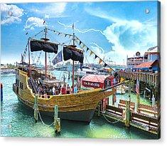 Pirate Ship Acrylic Print by Stephen Warren