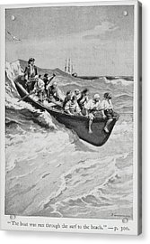 Pirates And Their Captain In A Boat Acrylic Print by British Library