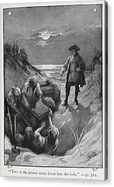 Pirates Burying Treasure Acrylic Print by British Library
