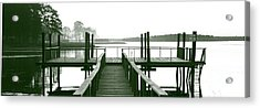 Pirate's Cove Pier In Monochrome Acrylic Print