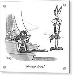 Pirates Speak To Wile E. Coyote Acrylic Print by Benjamin Schwartz