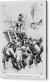 Pirates Waiting To Board A Ship Acrylic Print by British Library