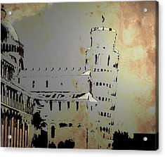 Acrylic Print featuring the digital art Pisa Italy 1 by Brian Reaves