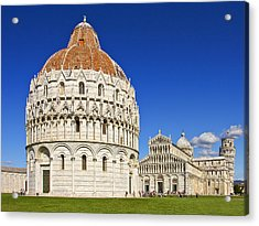 Acrylic Print featuring the photograph Pisa - Piazza Dei Miracoli by Kim Andelkovic