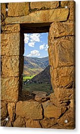 Pisac Ruins Acrylic Print by Alexey Stiop