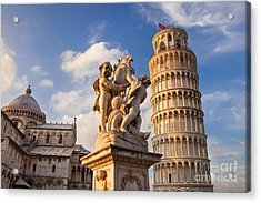 Pisa's Leaning Tower Acrylic Print by Brian Jannsen