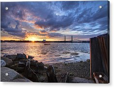 Piscataqua Sunset Acrylic Print by Eric Gendron
