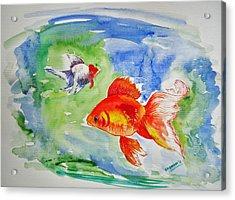 Pisces Acrylic Print by Shakhenabat Kasana