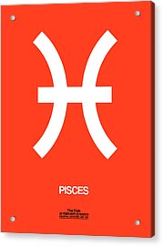 Pisces Zodiac Sign White Acrylic Print
