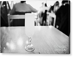 pisco sour cocktail inside la luna restaurant Punta Arenas Chile Acrylic Print by Joe Fox