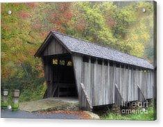 Pisgah Covered Bridge Acrylic Print by Karol Livote