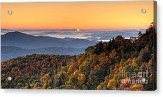 Pisgah Sunrise - Blue Ridge Parkway Acrylic Print by Dan Carmichael