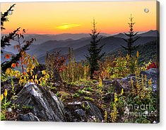 Pisgah Sunset - Blue Ridge Parkway Acrylic Print