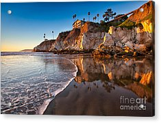 Pismo Cliffs And Reflections Acrylic Print