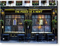 Pissed As A Newt Pub  Acrylic Print by David Pyatt