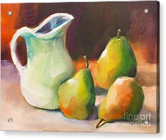 Pitcher And Pears Acrylic Print