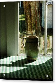 Pitcher By Window Acrylic Print by Susan Savad
