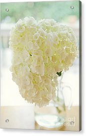 Pitcher Of Hydrangeas Acrylic Print by Kay Pickens