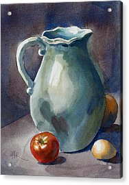 Pitcher With Tomato Acrylic Print by Pablo Rivera
