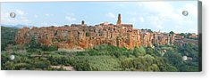 Acrylic Print featuring the photograph Pitigliano Panorama by Alan Socolik