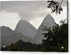 Pitons St Lucia Acrylic Print