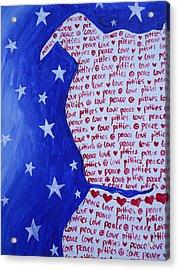 Pittie Love Acrylic Print
