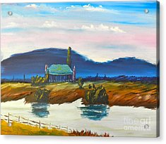 Acrylic Print featuring the painting Pittown by Pamela  Meredith
