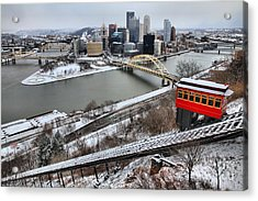 Pittsburgh Duquesne Incline Winter Acrylic Print