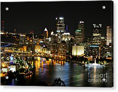 Pittsburgh Autumn Night 1 Acrylic Print