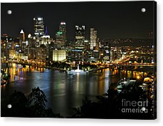 Pittsburgh Autumn Night 2 Acrylic Print