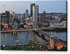 Pittsburgh Before Sunset Acrylic Print
