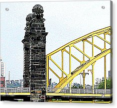 Acrylic Print featuring the photograph 16th Street Bridge, Pittsburgh Pa by Mary Beth Landis