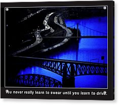 Pittsburgh Drivers Acrylic Print by Mike Flynn