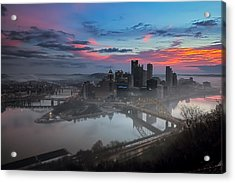 Pittsburgh January Thaw Acrylic Print by Jennifer Grover