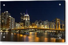 Pittsburgh Lights Acrylic Print by Mike Vosburg