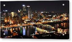 Pittsburgh Night Panorama Acrylic Print