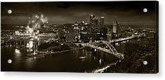 Pittsburgh P A  B W Acrylic Print