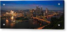 Pittsburgh Pa Acrylic Print by Steve Gadomski
