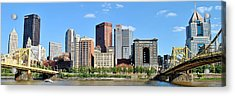 Pittsburgh Panoramic Acrylic Print by Frozen in Time Fine Art Photography