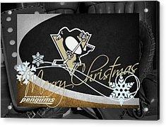 Pittsburgh Penguins Christmas Acrylic Print by Joe Hamilton