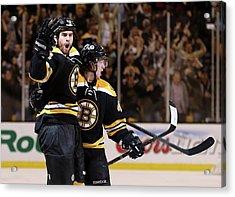 Pittsburgh Penguins V Boston Bruins - Acrylic Print by Bruce Bennett