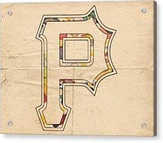 Pittsburgh Pirates Logo Art Acrylic Print by Florian Rodarte