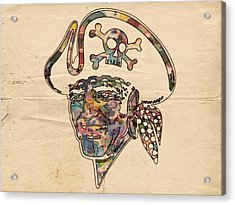Pittsburgh Pirates Logo Vintage Acrylic Print by Florian Rodarte