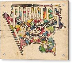 Pittsburgh Pirates Poster Art Acrylic Print by Florian Rodarte