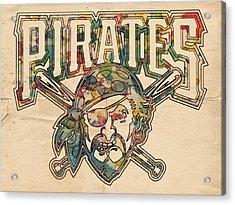 Pittsburgh Pirates Poster Vintage Acrylic Print by Florian Rodarte