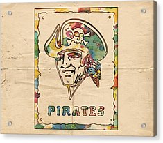 Pittsburgh Pirates Vintage Art Acrylic Print by Florian Rodarte