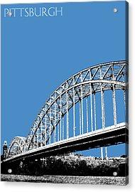 Pittsburgh Skyline 16th St. Bridge - Slate Acrylic Print by DB Artist