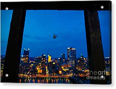 Pittsburgh Skyline At Night Acrylic Print